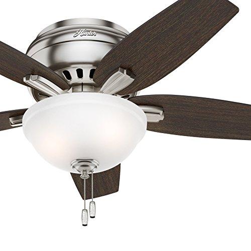 Hunter Fan 42″ Hugger Ceiling Fan In Brushed Nickel With